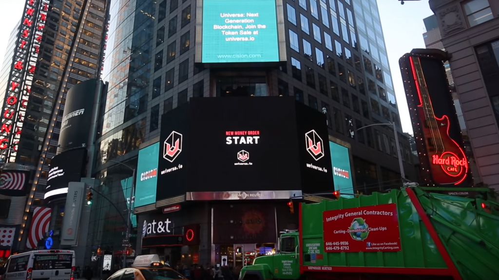 Universa Times Square Marketing