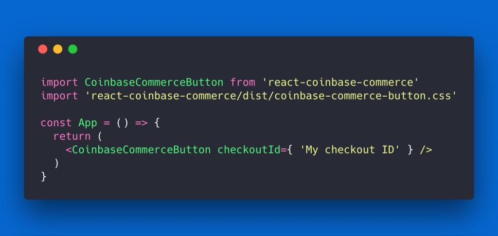 Coinbase React button