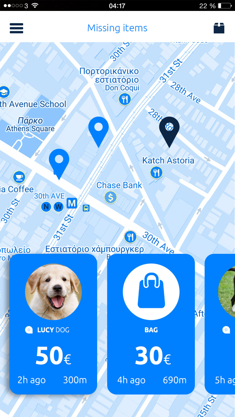 Mytracknet app dingen vinden tracker