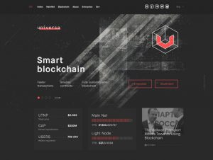 Universa website preview