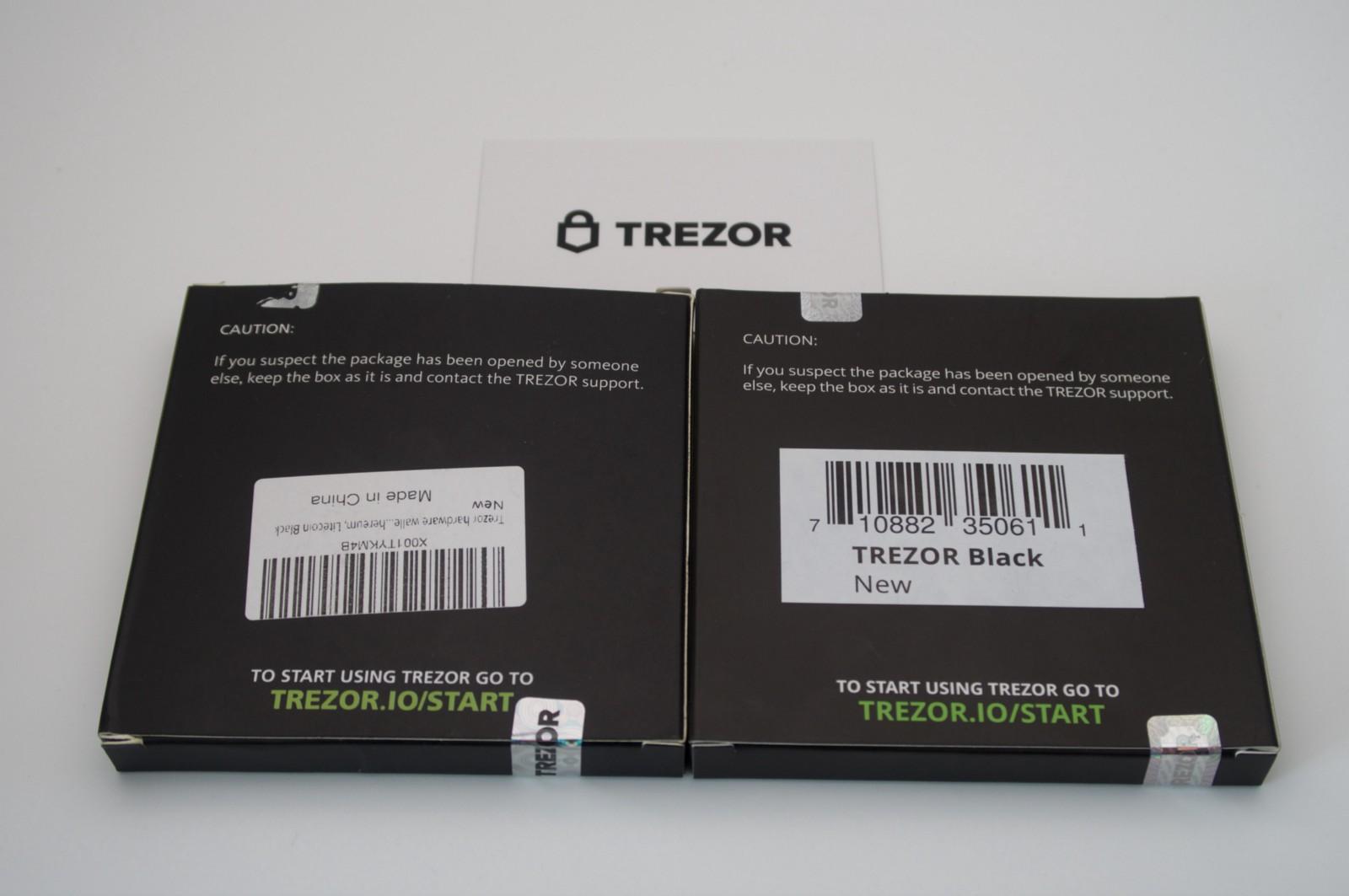 fake trezor box