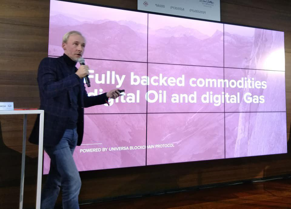 getokeniseerde olie en gas universa blockchain