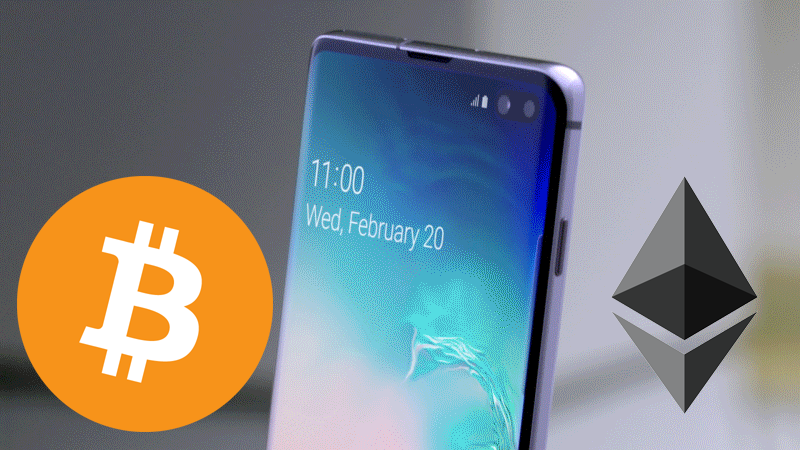 Samsung Galaxy S10 crypto wallet bitcoin Knox